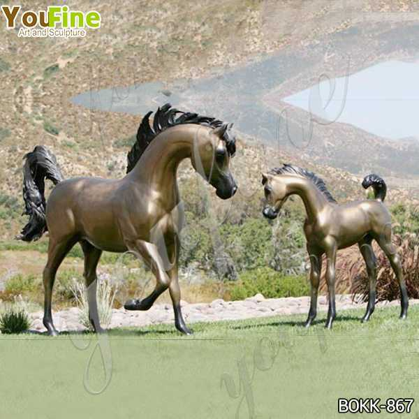 Mare and Filly Bronze Statue for Outdoor Decor Suppliers