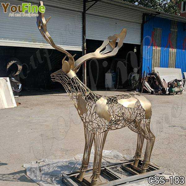 e Deer Stainless Steel Sculpture