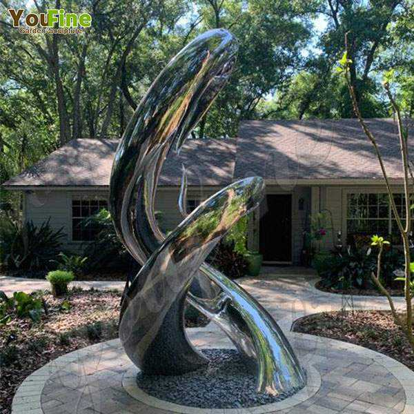 Outdoor Abstract Stainless Steel Sculptur