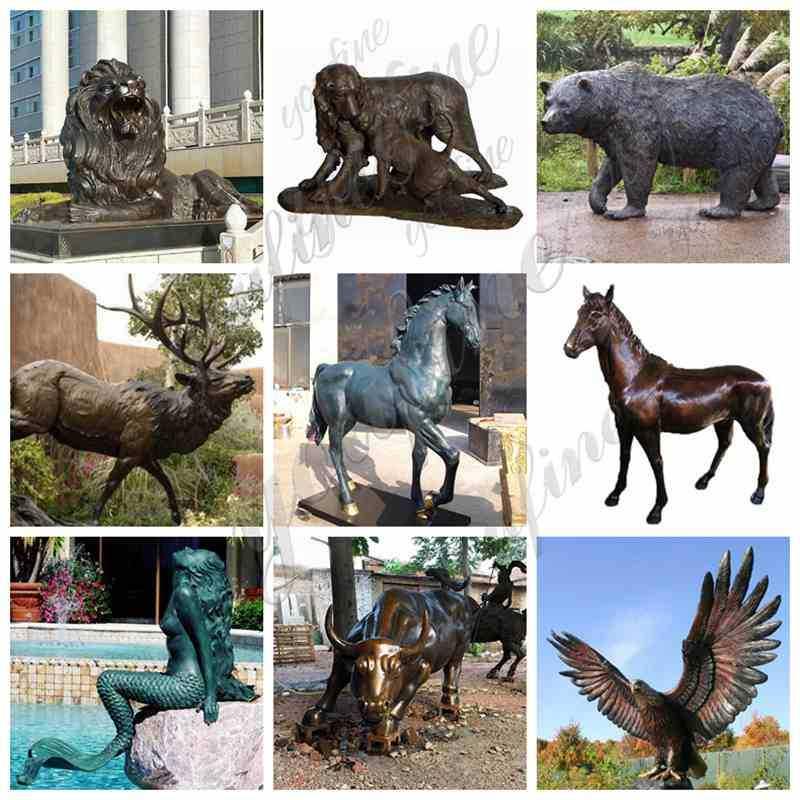 Outdoor Bronze Eagle Sculptures