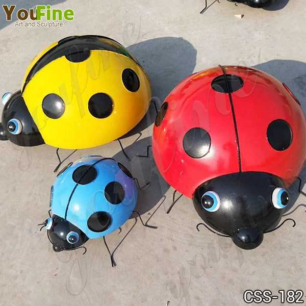 Outdoor Garden Stainless Steel Ladybug Sculptures for Sale