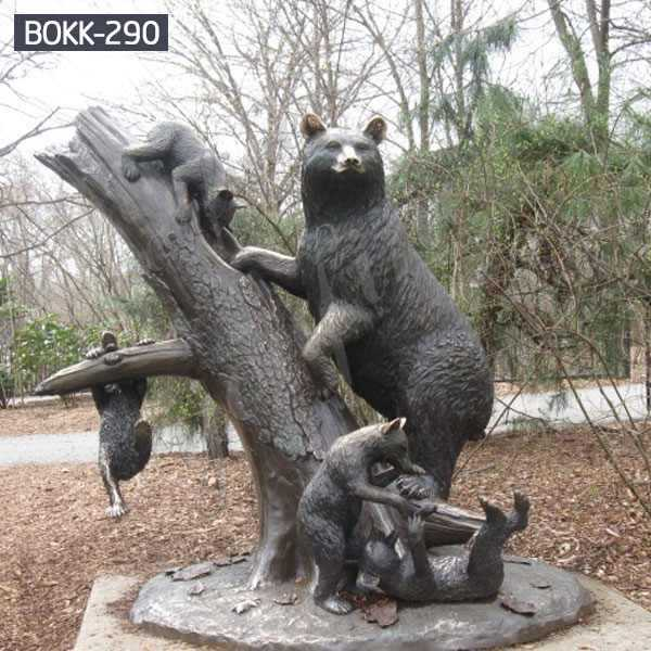 Outdoor Large Bronze Bear Family Sculpture Design for Sale BOKK-290