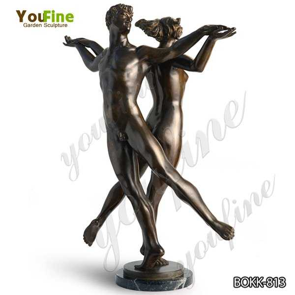 Outdoor Life Size Classic Dancing Faun Antique Bronze Statue Design