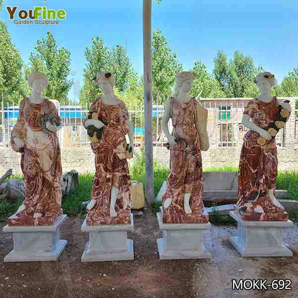 Outdoor Life Size Marble Four Seasons Goddess Statue Suppliers MOKK-692