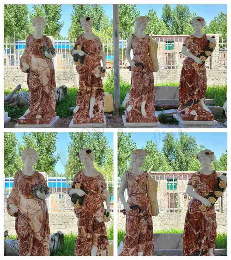 Outdoor Life Size Marble Four Seasons Goddess Statue