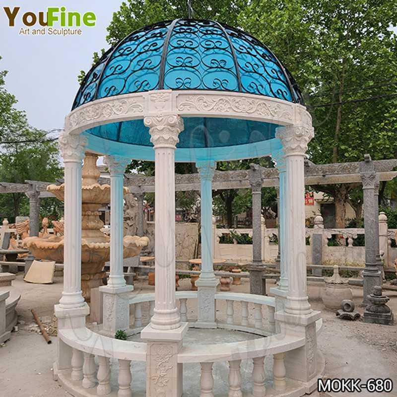 Outdoor Marble Garden Column Gazebo