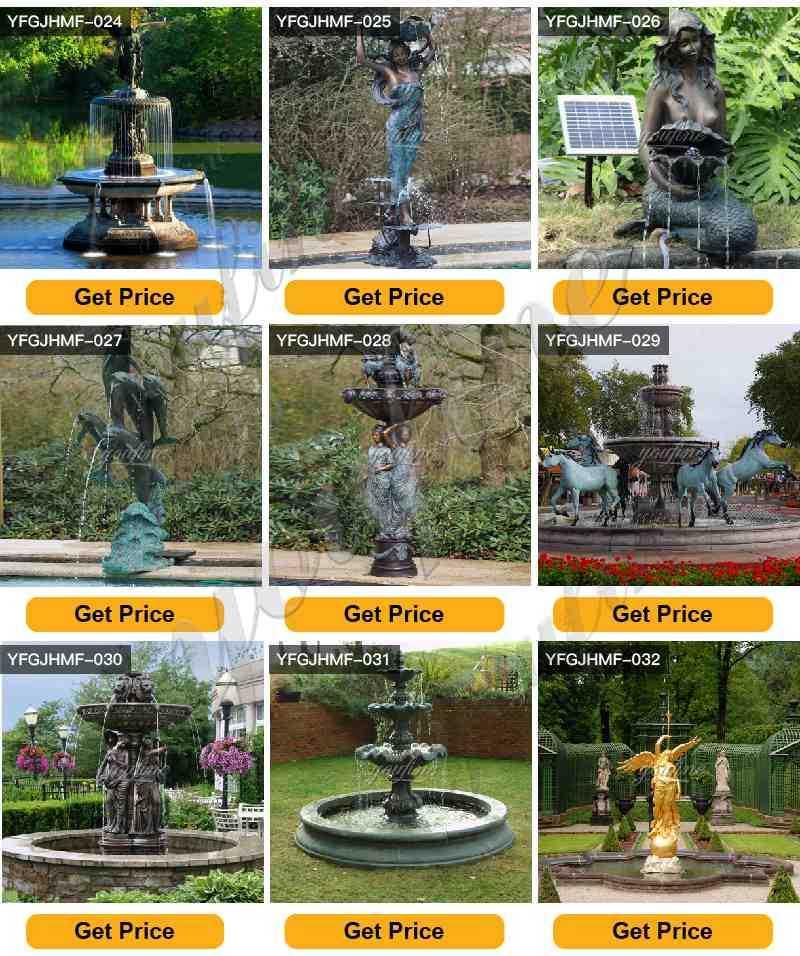Outdoor Tiered Bronze Garden Water Fountain
