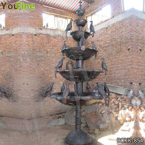 Outdoor Tiered Bronze Water Fountain for Sale