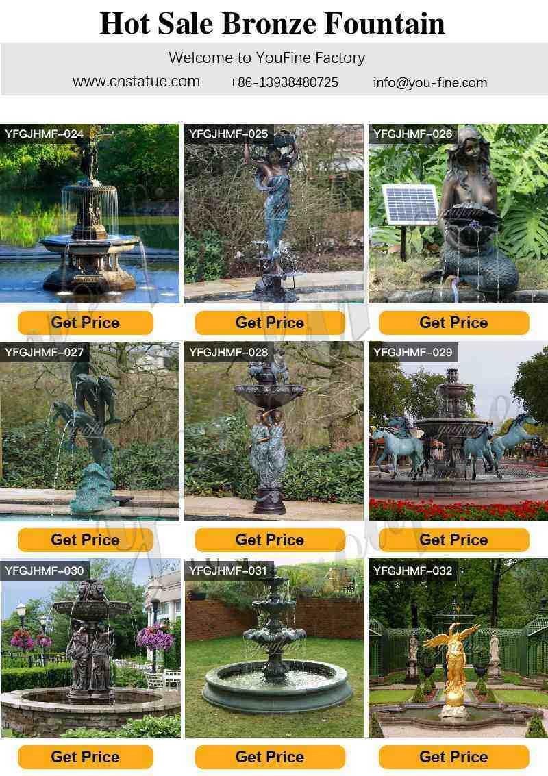 Outdoor Tiered Bronze Water Fountain