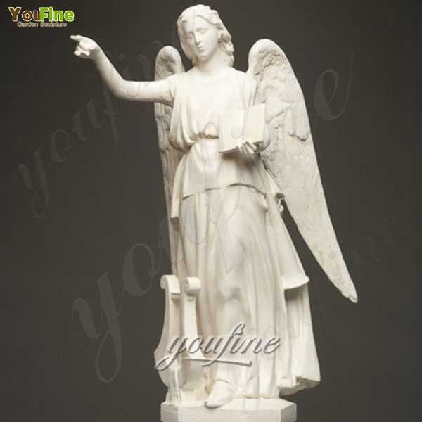 Life Size Marble Angel with Book Outdoor Statues Decor for sale MOKK-237