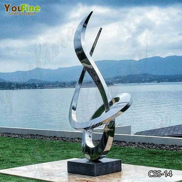 Popular Modern Style Mirror Polished Stainless Steel Sculpture Outdoor Garden Decor for Sale CSS-14