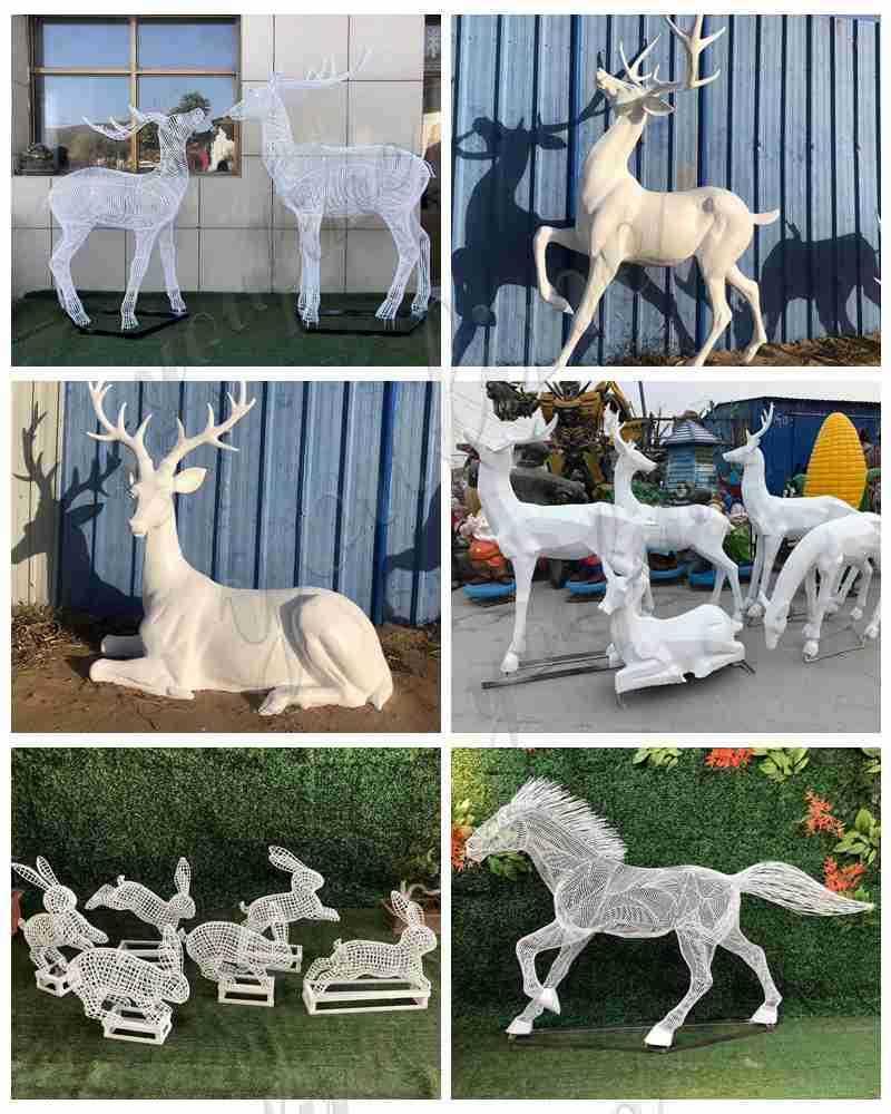 Stainless steel deer sculpture for sale