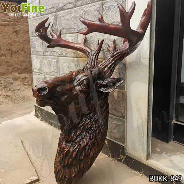 antique bronze deer statue for sale