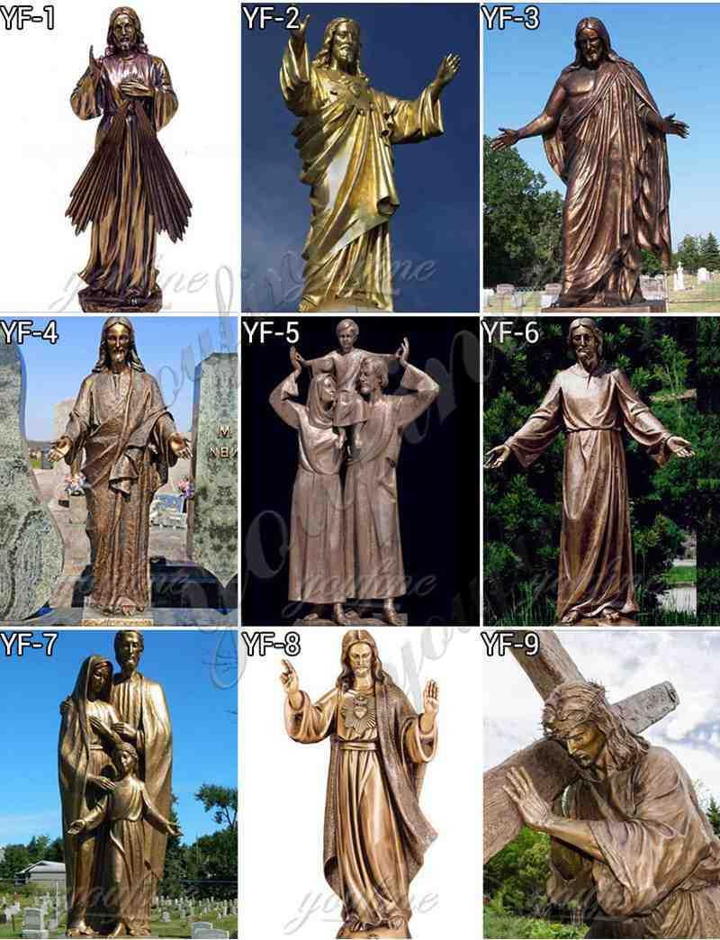 bronze Jesus sculpture