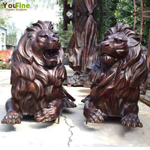 lion statues for front porch