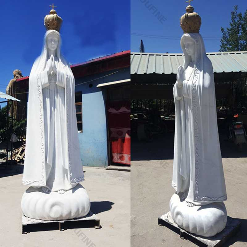 our lady of fatima garden statue with crown portugal