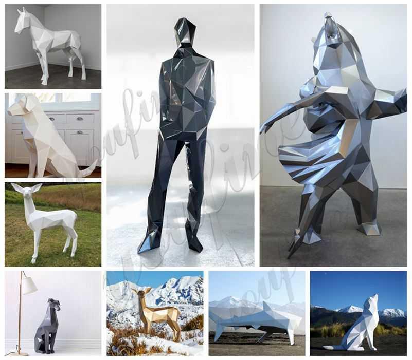 outdoor modern metal sculpture