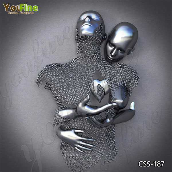 Abstract Love Design Stainless Steel Man Body Sculpture for Sale CSS-187
