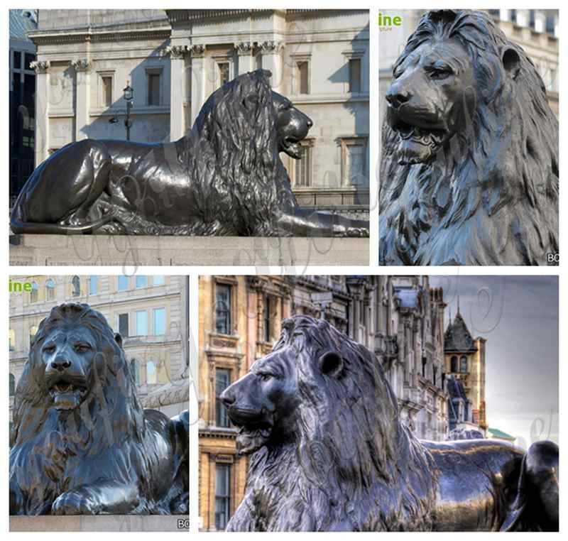 Antique Bronze Animal Lion Statue