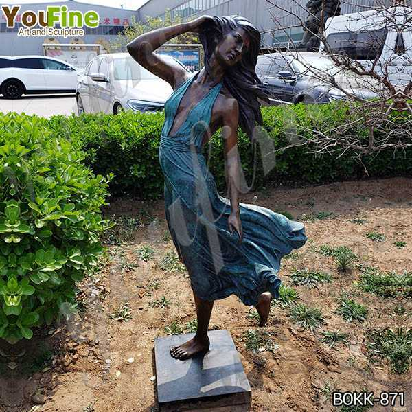 Antique Life Size Bronze Female Garden Statue Suppliers