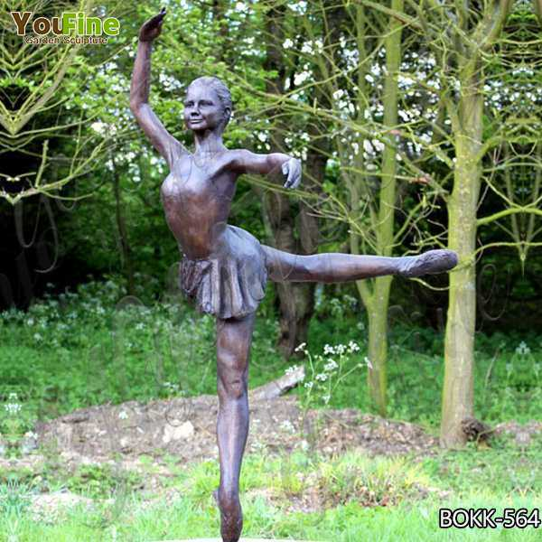 Artistic Custom Antique Bronze Ballet Dancer Statue Wholesale BOKK-564
