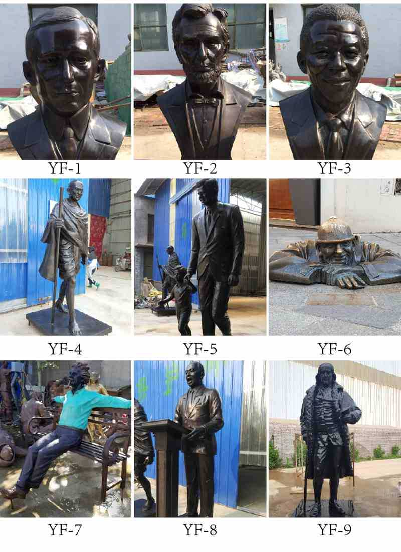 Brass Einstein Bust Statue Design