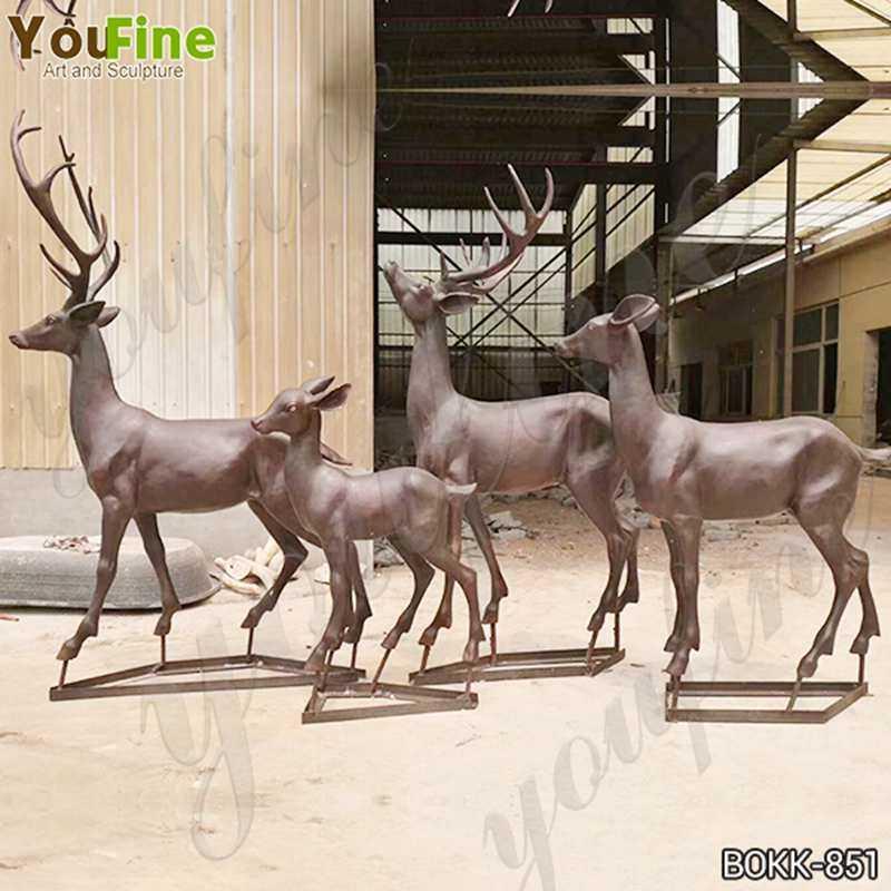 Bronze Animal Sculpture of Deer