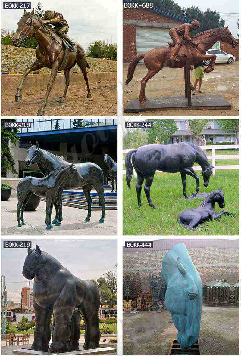 Bronze Mare with Foal Sculpture