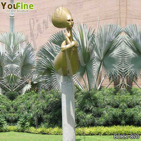 Bronze Wealth Abstract Woman Sculpture