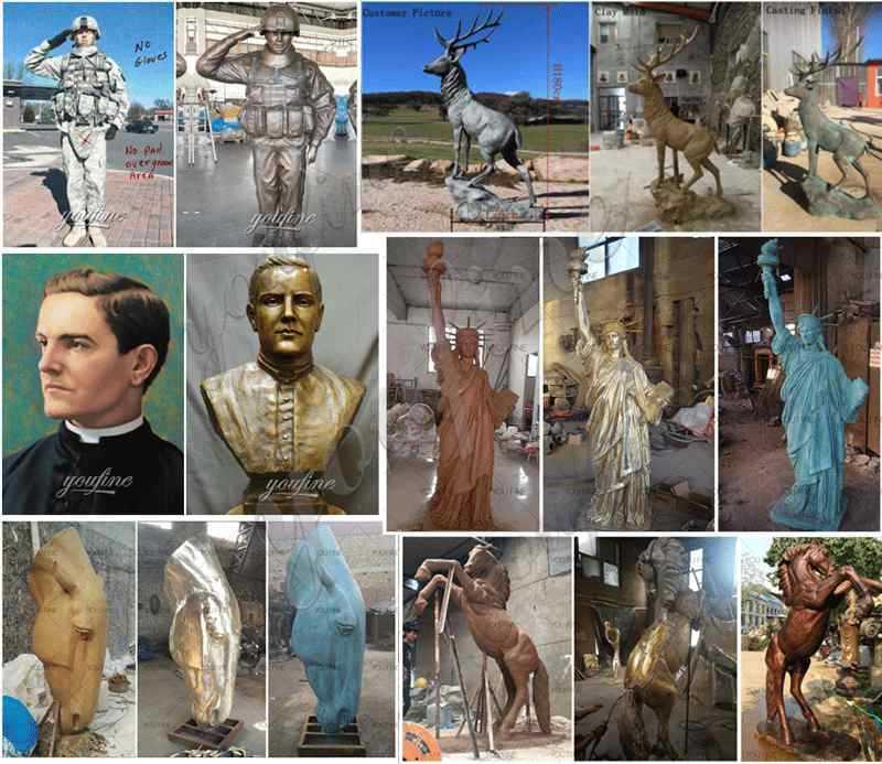 Casting Brass Einstein Bust Statue