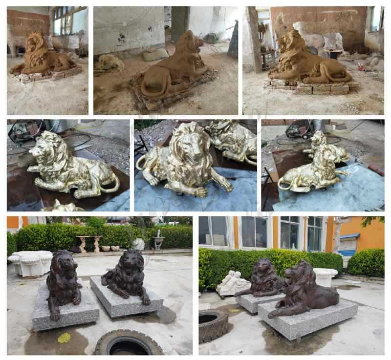 Casting Bronze Lions Sculptures