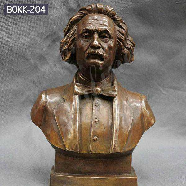 Custom High-quality Casting Brass Einstein Bust Statue Design Supplier BOKK-204