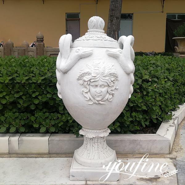 Classic Marble Flower Pots with Snake Garden Decoration for Sale MOKK-712