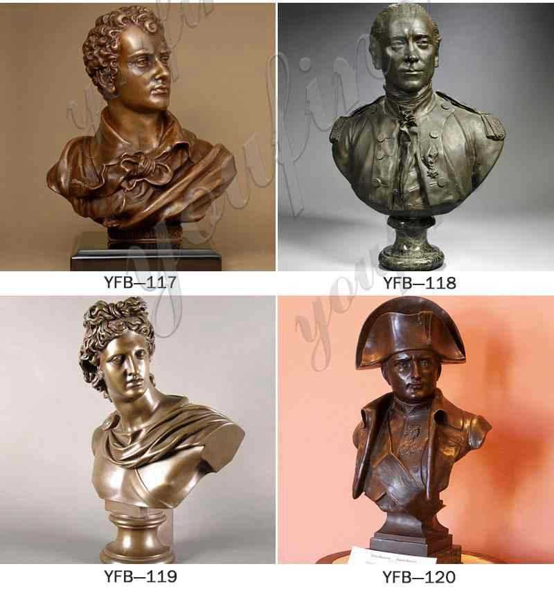 English Poet Bronze Bust of Lord Byron Statue