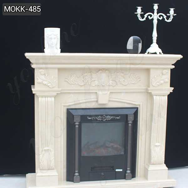 Georgian Style Natural White Marble Fireplace Mantel Good Feedback