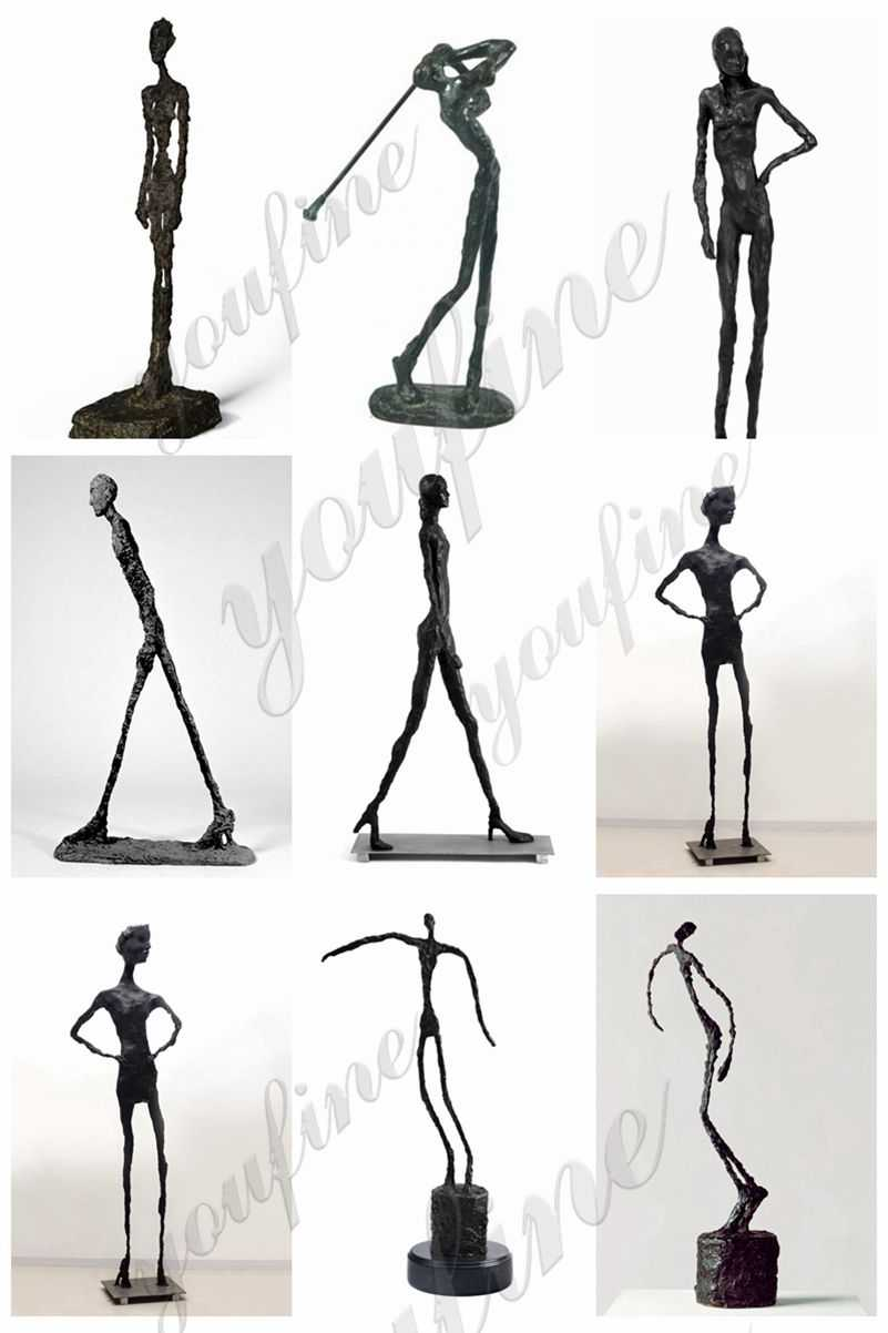 Giacometti walking man sculpture