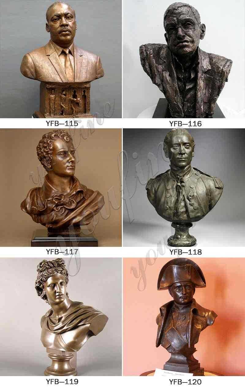 Greek Bronze Apollo Bust Statue