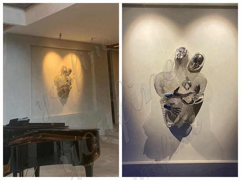 High Polished Stainless Steel Wall Sculpture