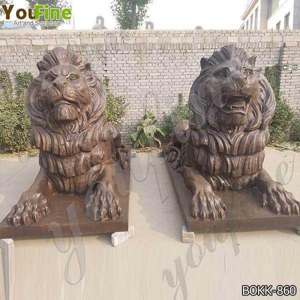 High-quality Outdoor Casting Bronze Lions Sculptures for Garden Wholesale BOKK-860