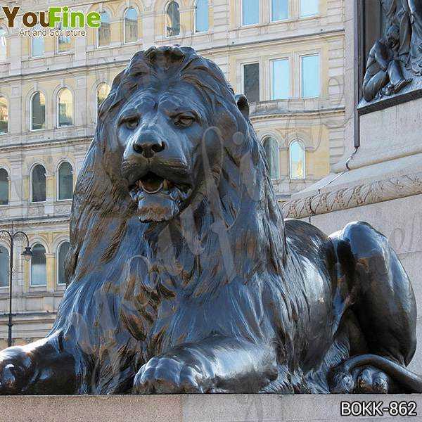 Hot Selling Large Antique Bronze Animal Lion Statue for Decor Maker BOKK-862
