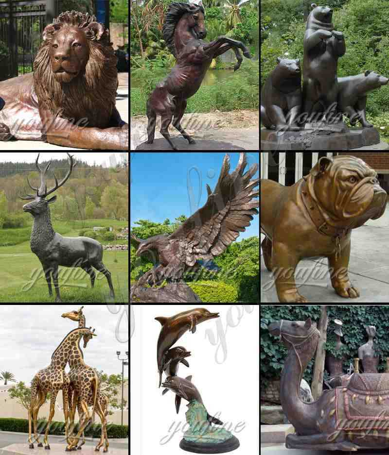 Large Bronze Animal Statue of Lion