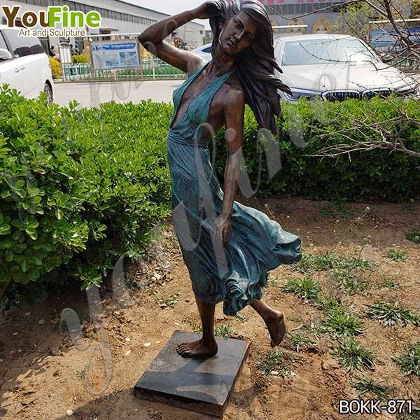 Antique Life Size Bronze Female Garden Statue Suppliers BOKK-871