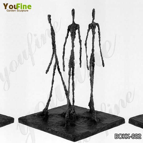 Life Size Giacometti Falling Man Bronze Sculpture Factory Supply