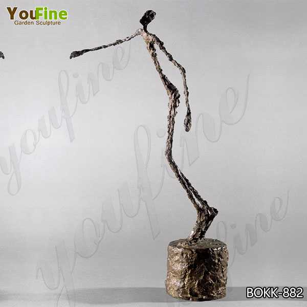 Life Size Giacometti Falling Man Bronze Sculpture