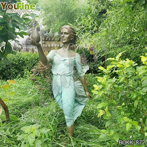 Life Size Outdoor Bronze Lady Garden Sculpture