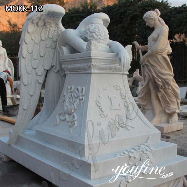 Hot Sell Life Size Weeping Angel Monument Headstone Angel Statues for Graves for Sale MOKK-112