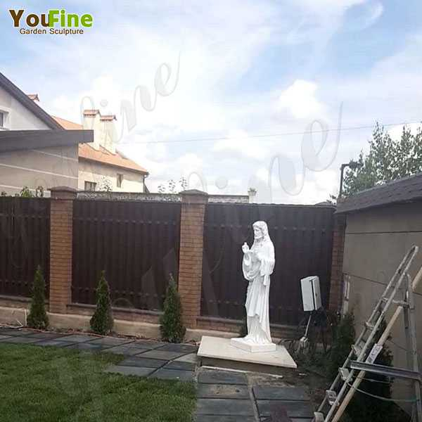 High Quality White Marble Jesus Statue Feedback from Our Ukraine Customer