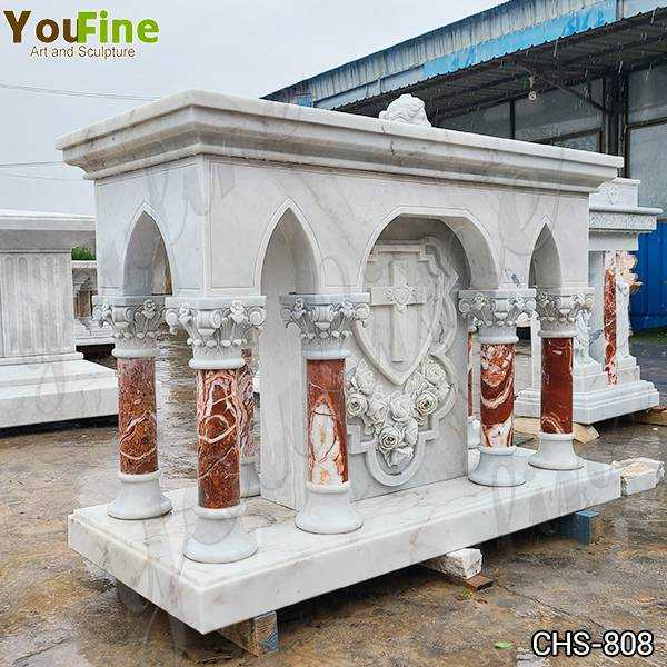Marble Altar Table with Columns for Church for Sale