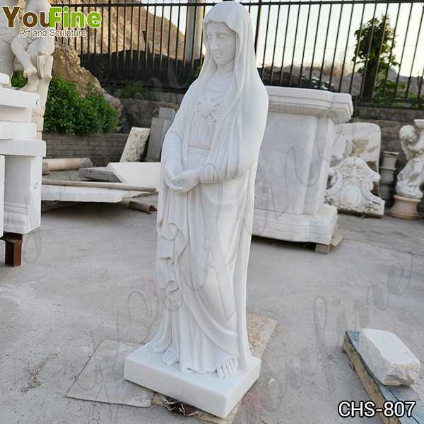 Marble Blessed Virgin Mary Sacred Statue