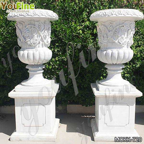 Marble Grape Pattern Garden Decoration Flowerpot Garden Decor MOKK-720